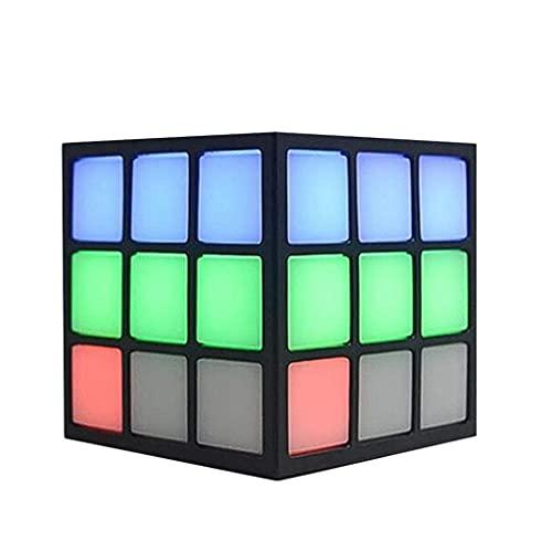 CHYSP Altavoz Nuevo Altavoz Bluetooth Rubik Cube Shape Altavoz Bluetooth inalámbrico Linterna Colorida Tarjeta portátil Personalizada Insertar Altavoz