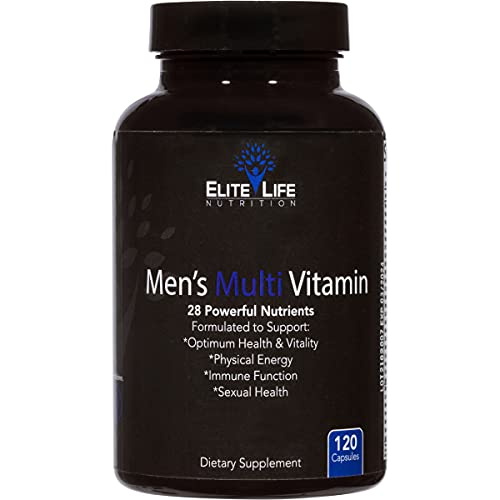 Men's Multi Vitamin - 28 Powerful Nutrients, Vitamins, and Minerals - Best Multivitamin for Men - Supports Optimum Health, Physical Energy, Immune System Function, and Maximum Vitality - 120 Capsules