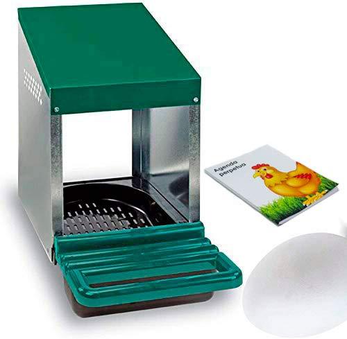 FINCA CASAREJO Ponederos para gallinas + 1 Huevo Macizo de Regalo + Bloc de Notas. Ponedero Huevos Eco 1 Hueco