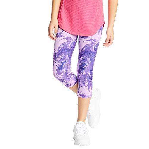 C9 Champion Girls' Capri Leggings, Multi Marble Purple, L