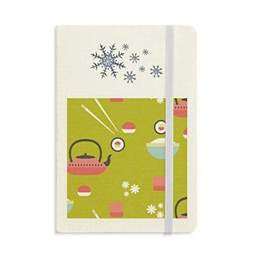 Tetera de Arroz Copa Sushi Japón Cuaderno Grueso Diario Copos de Nieve...