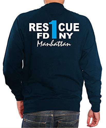 Sweat Navy, Rescue 1 (bleu) - Manhattan New York Pompiers
