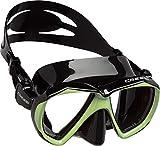 Cressi Ranger Mask Máscara de Buceo, Unisex Adulto, Negro/Verde Fluo,...