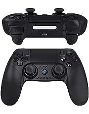 JOYSKY voor PS4 Draadloze Gaming Controller PS4 Dubbele Vibratie Bluetooth Game Controller met Touch Pad High-Precision Controller voor Playstation 4 (Zwart)