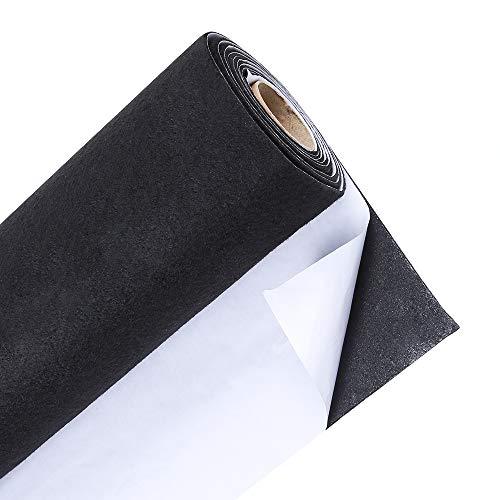 Caydo Large Black Self Adhesive Felt Shelf Liner for DIY Projects Costume, Jewelry Drawer Craft Fabric Peel Stick 15.7