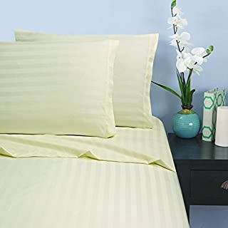 Elegant Comfort® 1500 Thread Count -DAMASK STRIPES- Egyptian Quality Luxurious Silky Soft WRINKLE & FADE RESISTANT 4 pc Sh...