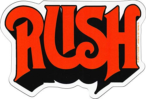 Square Deal Recordings & Supplies - Rush - Red Logo - Die Cut Sticker