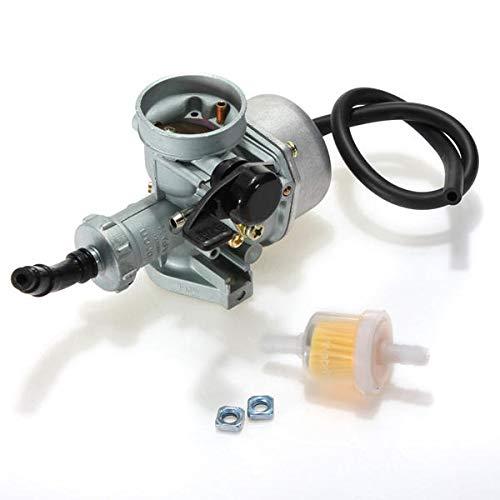 ZHAOH Montaje de carburador Carburador Gris de 22 mm para la Scooter de la Motocicleta de Carbono Carburador