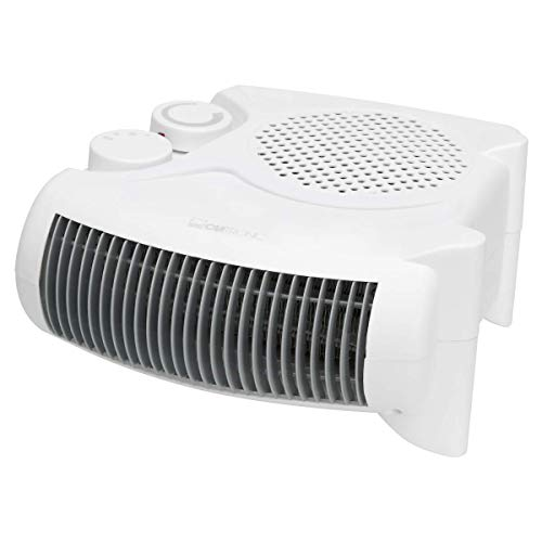 Clatronic 271672 Calefactor, 2 niveles de temperatura, función ventilador, 2000 W, Blanco