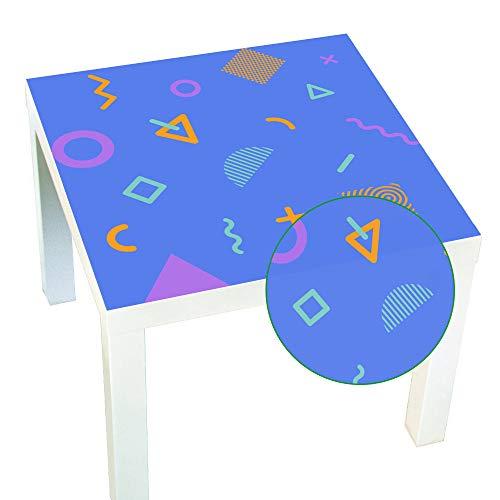 KLMWDDBT Nieuwe Creatieve Geometrie Crystal Table Sticker Vierkant Waterdichte Zelfklevende Hoge Temperatuur Tafel Vernieuwde Decoratieve Sticker 55x55cm Zxd-08