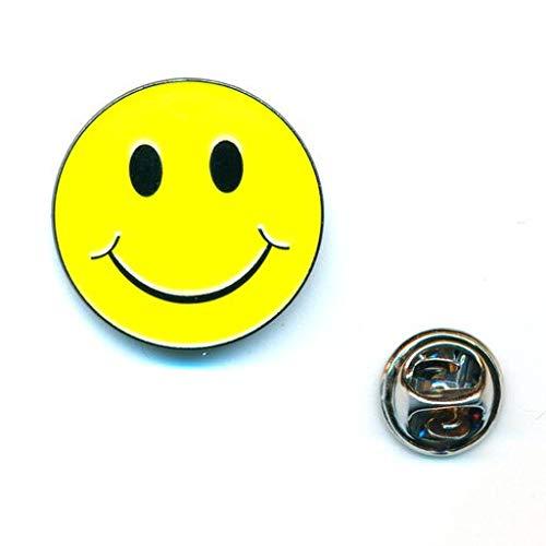 hegibaer Smiley Emoticon Emoji 3D Metall Button Badge Edel Brosche Pin Anstecker 0942