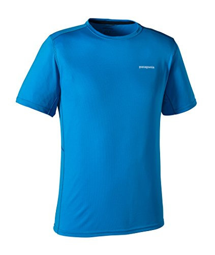 Patagonia Fore Runner t-Shirt à Manches Courtes pour Homme L Bleu - Andes Blue