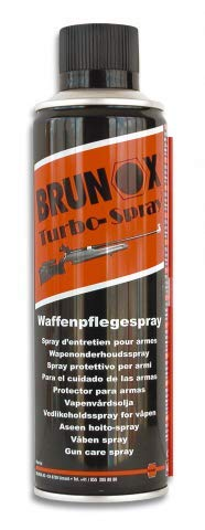 Brunox Lubricante 300 ml Spray Ideal para Armas, escopetas, Pistolas, Mantenimiento, Airsoft, Caza, Fusil, Rifle 23031 + Portabotellas de regalo