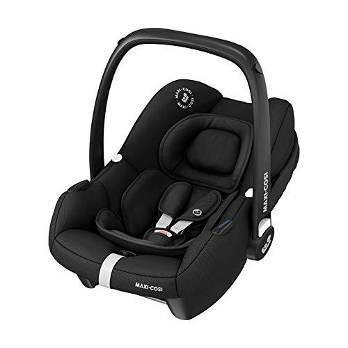 Maxi-Cosi Tinca Seggiolino Auto per Neonati i-Size, Gruppo 0+, da 45 a 75 cm, 0-12 kg, Essential Black, Nero