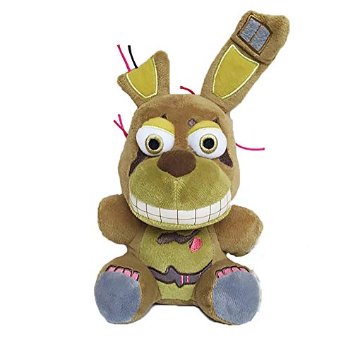 FNAF Plush Five Nights at Freddy's Nightmare Springtrap Funtime Freddy Chica Mangle Foxy Bonnie Plush Keychain Pendant Toy Brown