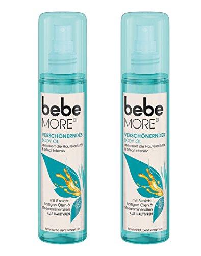 Bebe More Verschönerndes Body Öl, Pflegendes Körperspray für alle Hauttypen, 2er Pack (2 x 150 ml)