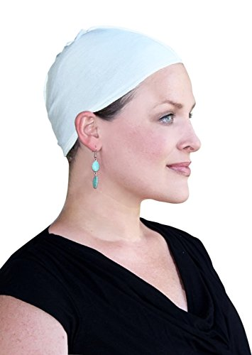 Bamboo Wig Cap and Soft Chemo Hat Liner for Hair Loss (Cream)