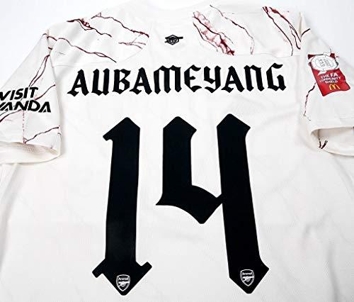 ADI Pierre-Emerick Aubameyang#14 Jersey Fussball-Trikot 2020-2021 Full Patch White Color (L)