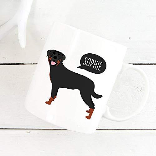 DKISEE Black Labrador Retriever Mog, gepersonaliseerde naam Coffee Mog, Custom Dog Mug, Pet Mug, Dog Lover Gift, Funny Coffee Mok Tea Cup 11 oz # 16