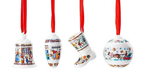 Hutschenreuther Glocke + Zapfen + Stiefel + Kugel 2020 Weihnachtsbäckerei Porzellan Weihnachten -