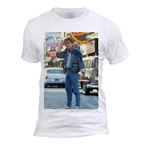 T-Shirt Homme Col Rond Retour vers Le Futur Marty McFly Michael J. Fox 60's