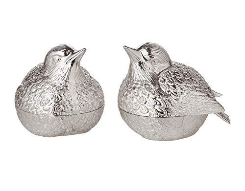 EDZARD peper- en zoutstel mus, hoogte 6 cm, verzilverd, aanslagbestendig