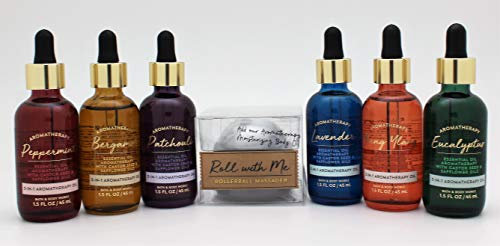 Bath and Body Works - 6 - Aromatherapy 3 in 1 Body oils and Massage Rollerball 7 pc Set