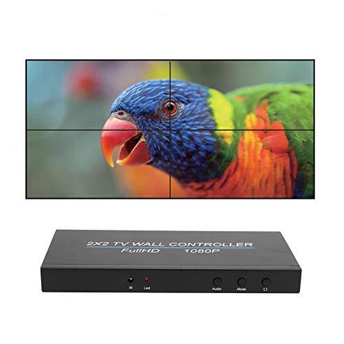 Estink Der Videowand-Controller, 1080P 2X2 HDMI-Videobildprozessor, unterstützt den HDMI1.3-Eingang, unterstützt 4 HDMI-Ausgänge, unterstützt das mehrfache Spleißen, Plug-and-Play(Mich)