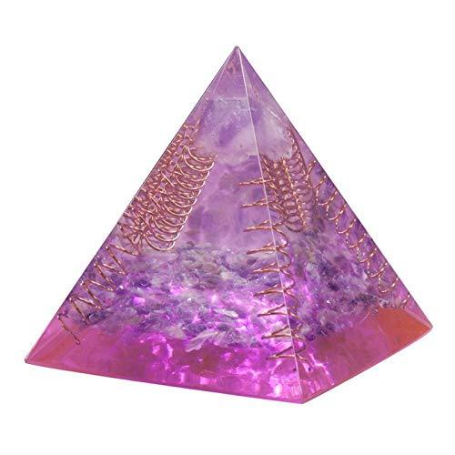 ZTTT Kristallkupferdrahtpyramide Steinfigur (Color : Amethyst)