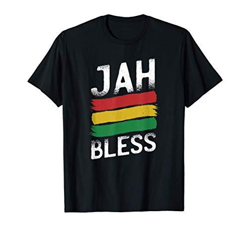 Jah Bless Reggae Rastafari Rasta Jamaica Ethiopia God Gift T-Shirt