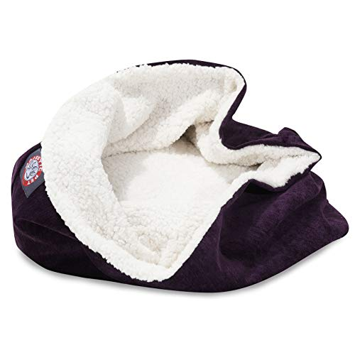 Majestic Pet Villa Burrow Cat Bed - Aubergine - 17in