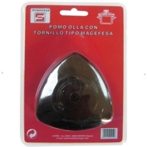 Distribuidora Ersa 01452 Pomo con Tornillo, Negro, 16 x 12 x 3,5 cm