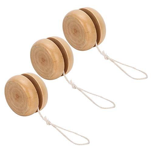 3 pezzi Yo Yo Wood Yo-Yo Giocattoli in legno Yo-yo Ball per bambini Ragazzi Ragazze Festa di compleanno Attività all'aperto
