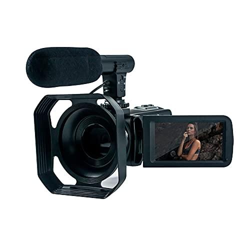 Cámara de vídeo 4K, 48 MP, YouTube, cámara con wifi, zoom digital 18X, para vídeos, pantalla táctil y mando a distancia