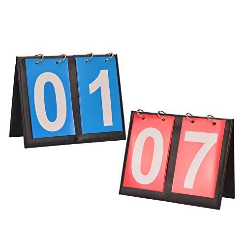KATOOM 2Pcs Anzeigetafel Sportanzeigetafel Digital Scorebord Sport Fußball Spielstandanzeige Tischtennis Spielstand Zähler Volleyball Zähltafel Score Flipper für Basketball Badminton Tennis Schul