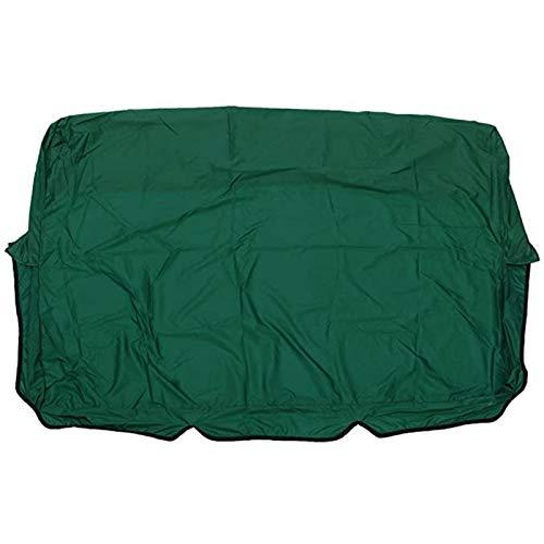 MIAOQI Schaukelsitzbezug Staubbeständiger Anti-UV-Feststoff Ersatzteile Patio Gartenstuhlschutz Leicht zu reinigender Polyester-TAFT Für 3-Sitzer Faltbarer ßen wasserdicht 150x150x10cm(Grün)