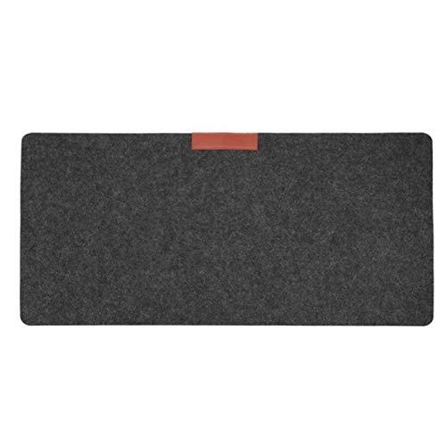 Pad de souris personnalisé, pratique et beau Bureau Computer Mat Moderne Desk Keyboard Mouse Pad 700 * 330 * 2 mm Grand tapis de couleur unie (Color : Gray)