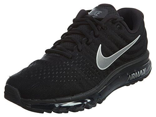 Nike Mens Air Max 2017 Running Shoes Black/White/Anthracite 849559-001 Size 9