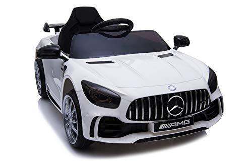 TOYSCAR electronic way to drive Auto Macchina Elettrica per Bambini Mercedes AMG GTR 12V Porte Apribili Full Optional con Telecomando