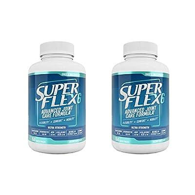 2 x SUPERFLEX-6 - Hoch entwickeltes Supplement für die Gelenke (Glucosamin, Chondroitin, MSM, Vitamin D3, Hyaluronsäure und Boswellia-Extrakt) - 300 Tabletten