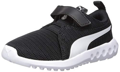 PUMA Unisex-Kid's Carson 2 Velcro Sneaker, Black-White, 3.5 M US Big Kid