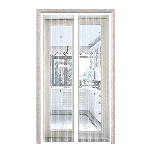 CHENG Moustiquaire Magnétique 95x185cm, Rideau Porte Anti Insectes, Adsorption magnétique Pliable Facile pour Enfants et Animaux, for Le Salon/Porte Patio/Windows, Blanc