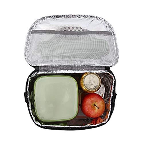 Lwieui Bolsas de Almuerzo Simple y con Estilo Bolsas de Almuerzo for niños y Adultos Almuerzo Bolsas se Pueden Mantener los Alimentos Calientes Bolsas de Almuerzo (Color : Verde, Size : 29x17x20cm)