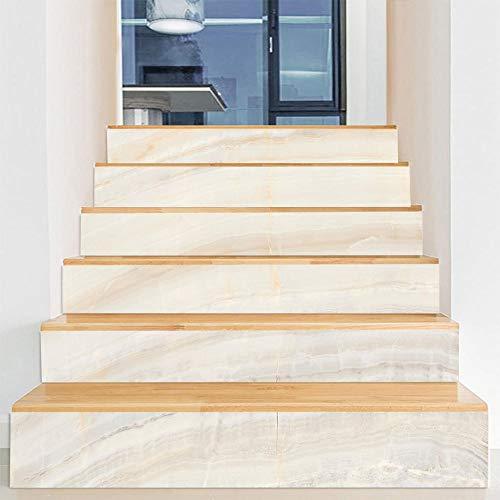 Pegatinas de escaleras 3D Mármol Desmontable Impermeable para Decoración Del Hogar Sala Baño Cocina