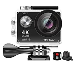 4K Ultra HD action camera. Professional 4K 25Fps & 2.7K 30Fps video with 12MP photos at up to 30 frames per second for incredible photos, which is 4 times the resolution of traditional HD cameras. Wireless wrist remote control sports camera. With a w...