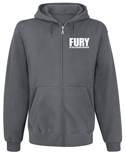 Fury In The Slaughterhouse 30 Years Männer Kapuzenjacke grau meliert XL