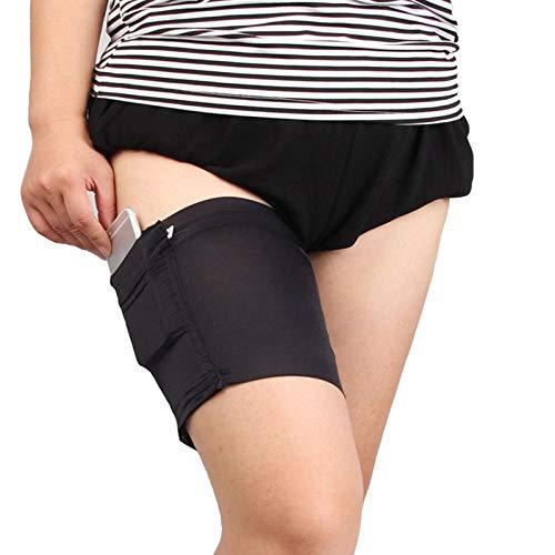 SHOP-STORY - Bande anti-frottement pour les cuisses avec poche de rangement - Noir - Taille L - 68-73 cm