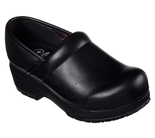 Skechers Work Clog SR Slip Resistant Womens Shoes Black 9