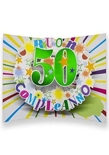 Auguri pop-up kaart 50 jaar