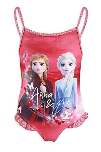 Disney Frozen 2 – Disfraz completo 1 pieza playa piscina – niña – Producto original con licencia oficial 1037 Fucsia 4 años